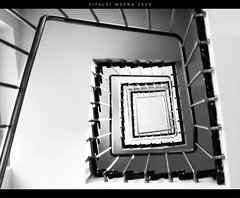 Spiral (WeenArtistic) Tags: camera white black digital spiral stair infinity samsung staircase infini