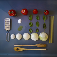 Spaghetti organized neatly (shenamt) Tags: food cooking dinner italian tomatoes salt pasta basil noodles onion spaghetti oliveoil organized cheesegrater week12 2013 neatly week12theme weekofmarch18 52weeksthe2013edition 522013