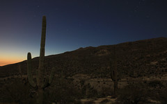 "Desert ""moonscape"". (Mike's Mode (Miguel H.)) Tags: sunset arizona moon atardecer tucson luna moonscape timedexposure"