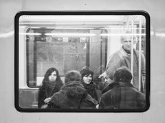 A metro window (unoforever) Tags: barcelona street people monochrome photography calle publictransportation gente streetphotography streetphoto bcd fotografa transportepblico spmonochrome unoforever