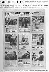 Page 12 d'un dossier de presse anglais (Charlie Chaplin: du muet au parlant) Tags: en film 1936 archive moderntimes cinma charliechaplin dailymail paulettegoddard pressbook tempsmodernes filmmuet dossierdepresse
