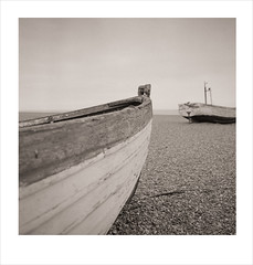 fishing boats (Nick Moys) Tags: sea beach coast suffolk ilfordhp5 fishingboats aldeburgh mamiyac220 55mmlens moerschfinol lightroom4 lensworkwarmtone
