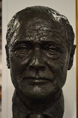 Bronze bust - Group Captain Sir Douglas Bader CBE, DSO & Bar, DFC & Bar. (1910 1982), RAF Museum, Hendon, London. (greentool2002) Tags: london museum bronze group bust captain douglas sir raf bader hendon dfc cbe dso nw4