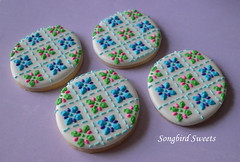 Quilted Easter Eggs (Songbird Sweets) Tags: easter eggs sugarcookies songbirdsweets