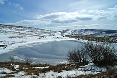 British Summer Time. (sidibousaid60) Tags: uk snow cold buxton day cloudy derbyshire peakdistrict goytvalley pwwinter