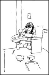 Clara Eating