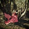 perch (elle.hanley) Tags: woman selfportrait tree green nature coral woods dress selfie texturebylesbrumes vivadeva ladymisselle
