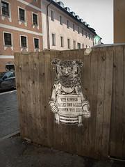 EULE (yoisnumbertwo // stencilove) Tags: streetart pasteup cutout yo urbanart owl regensburg eule stencilove