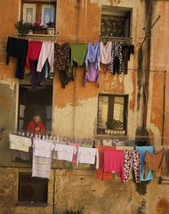 The lady and her laundry (stijnbulckaen) Tags: sardegna italy was italia laundry cagliari itali sardini