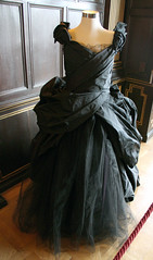 Anna Karenina Black Evening Gown (Martin D Stitchener) Tags: london film movie keiraknightley nationaltrust judelaw hamhouse annakarenina leotolstoy aarontaylorjohnsonkellymacdonald