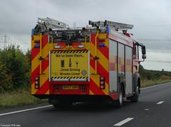 Lincolnshire Fire & Rescue Service MAN TG-M Water Ladder (PFB-999) Tags: rescue man water truck fire blues lincolnshire pump vehicle and service ladder westbound appliance battenburg bluelights chevrons a46 tvac lincs wrl tgm 18240 lfrs rearreds unitbv57gnx