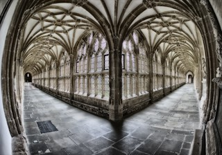 The cloisters within Wells Cathedral - Somerset   (Explored)