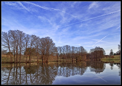 Pinetum Lake (ioensis) Tags: sky lake reflection nature spring gray bald reserve mo missouri summit april cypress shaw pinetum jdl 2013 ioensis 69841335067tmtc1c