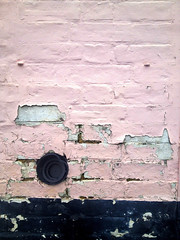 Decay III (Nada*) Tags: old uk pink house detail building brick mobile wall mess paint phone decay telephone cell dirty layer ely 4s iphone iphone4s