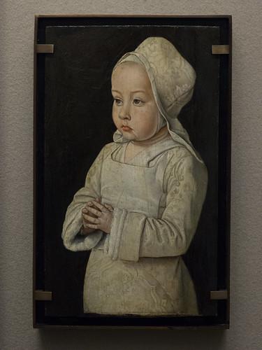 Jean Hey (c.1475-c.1505) Suzanne de Bourbon (1491-1521) dit l'Enfant en prière, fille d'Anne de France et de Pierre II (c.1492) musée du Louvre (Paris, France)