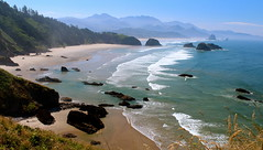 Crescent Beach at Ecola State Park Panoramic View (Cole Chase Photography) Tags: beach oregon canon pacificnorthwest crescentbeach oregoncoast cannonbeach ecolastatepark t3i