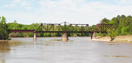 Through Truss Railroad Swing Bridge over Sabine River, Bon Wier, Texas 1304131418