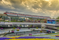 Monorail Monday (Allen Castillo) Tags: epcot nikon disney monorail wdw waltdisneyworld futureworld monorailred nikcolorefexpro d7000 monorailmonday