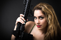 Vyonka & the AR-15 (tallestmexican) Tags: girls guns ar15 eotech vyonka
