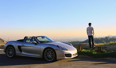 Boxster S, 987 (kennymuz) Tags: sunset portrait sports car silver landscape golden kent los highway scenery angeles horizon s crest german porsche vehicle boxster import hung 987 ach 2013