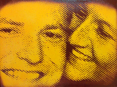 commission (sykonurse) Tags: stencil canvas halftone