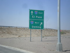 NM-28 South at I-10 (sagebrushgis) Tags: newmexico sign intersection i10 lascruces biggreensign nm28 freewayjunction