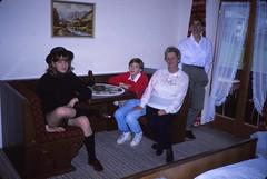 West Germany    -    Schnnau am Knigssee    -    Gstehaus Aschbachhof    -    Jessica, Jeb, Oma & Me    -   April 1990 (Ladycliff) Tags: westgermany schnnauamknigssee gstehausaschbachhof jessica barbara jeb oma