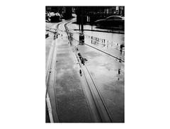 160130_PEN_EE-2_ilford-delta100_00029_ (A Is To B As B Is To C) Tags: aistobasbistoc antwerp antwerpen belgium belgi olympus penee2 halfframe analog ilford delta 100asa bw streetcar tracks rain dark
