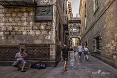 Gothic Quarter, Barcelona (iosif.michael) Tags: sony a7 batis street photography artist music musician people gothicquarter barcelona spain travel architecture
