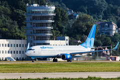 Pobeda B737 take off (denlazarev) Tags: aerspot2016 pobeda boeing b737 boeing737800 takeoff controltower vqbwi baselaero caucasus russia runway clouds canon air aviation airline airplane airport aircraft airliner sky spotting fly photo plane lightroom    outdoor sochi adler aer urss mountains
