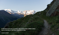 Gods ways are perfect! (Tobiasvde) Tags: bible verse 2 samuel 22 31 nikon d800e nikkor 2470 f28 alps alpen switzerland zwitserland schweiz suisse swiss