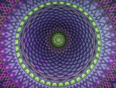 Under the Dome (Dinozauw) Tags: dome abstract symmetry mosque pattern circle surabaya worship indonesia alakbarnationalmosque masjidnasionalalakbarsurabaya hypnotic round tamron14150mmf3558diiii geometry architecture eastjava lookup dot