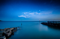 calm sea (Glen Parry Photography) Tags: d7000 dorset nikon sigma calm sea calmsea stars rocks pier water seascape longexposure sigma1020mm night nightphotography nightsky