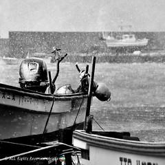 (aoryy) Tags: monochrome winter snow fishingport port
