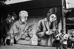 Zabou_9101 rue Oberkampf Paris 11 (meuh1246) Tags: streetart paris paris11 zabou rueoberkampf mur tlphone