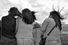 HAIR IN A WIND (katarzynatrzcinska) Tags: girls wind black white hair bohol philippines travel