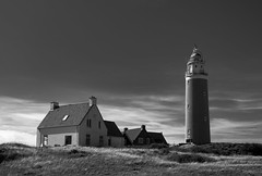 Texel lighthouse in broad daylight (cornelis1980) Tags: lighthouse texel daylight black white conversion fuji xt10 1855 f284 landscape beautiful summer picture