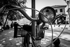 Light my way (teogou) Tags: bnwphotography bnw blackandwhitephotography blackandwhite bicycle ioannina