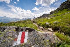 Wegzeichen (thunderbird-72) Tags: montafon sterreich vorarlberg sommer austria weg gaschurn nikond7100 verwallgruppe berge alpen versettla at