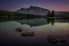 Stepping Stones (Harry2010) Tags: twojacklake banffnationalpark lake mountrundle
