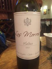 "Cafayate: premier vin, rouge à 14%. Très bon ! <a style=""margin-left:10px; font-size:0.8em;"" href=""http://www.flickr.com/photos/127723101@N04/29328427061/"" target=""_blank"">@flickr</a>"