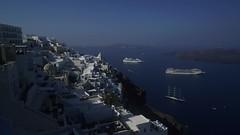 Time Lapse of Thira, Santorini Greece (TS Elliott) Tags: island caldera port anchor ship cruise greece thira fira timelapse