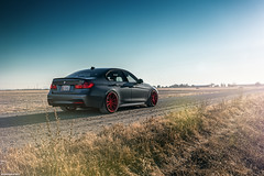 BMW F30 335i (Richard.Le) Tags: bmw f80 335i twin turbo autovault west sacramento sunset sunrise sony a7rii images photo photography automotive commercial landscape road dirt sedan german saloon red rohana wheels firefighter labor day natural available light point shoot richard le elk grove california f30