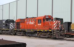 NBEC 1818 (GLC 392) Tags: new brunswick east coast railway company railroad train nbex 1818 6905 sd40 emd mlw alco rs18u cp rail homewood il illinois markham hazel crest