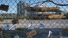 (planted city) Tags: vancouver city urban landscape education ideas change falsecreek britishcolumbia vancity canada pnw cities classroom learn learning biodiversity reconciliation nature history fence inequality accessibility engage