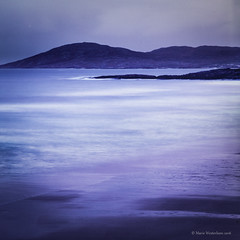 Isle of Harris - Purple light (ShimmeringGrains.com) Tags: aftersunset 120film 6x6 fujivelviarvp fujivelviarvp50 hasselblad hasselblad500cm isleofharris isleofharrisscotland2015 leendhardgrade leefilter leebigstopper scotland analog blue bluehour coastal dreamylandscape eftersolnedgng film himmel kvadrat landscape landskap mediumformat mellanformat moln scannad scanned sea seascape sky square water outdoors purple dreamy