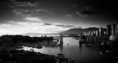 False Creek Vancouver BC (Mic jaga) Tags: vancouver falsecreek sunset light mountains clouds sun autumn city dock harbour granville island boats burrardbridge