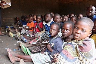 Students in class, Malawi