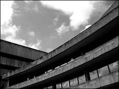 Birmingham Central Library, pre-demolition, 2015 (Wagsy Wheeler) Tags: birmingham birminghamcitycentre library publiclibrary birminghamcentrallibrary centrallibrary brutalism brutalist concrete blackandwhite monochrome demolition