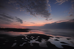 Sunset-    (jen-kai) Tags: nikon d90 2016 sigma travel light taiwan sun sea sunset sky water beach summer night